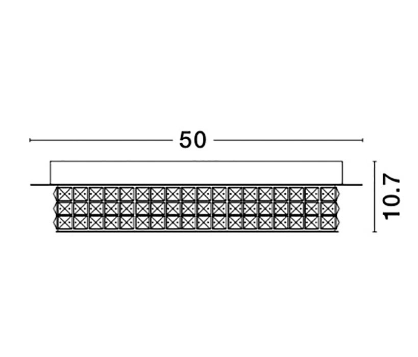 Nova Luce NL-9361084 Zeffari LED mennyezeti lámpa