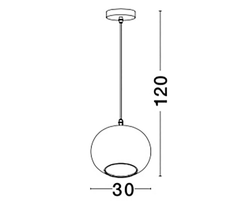Nova Luce NL-9361723 Jade függeszték