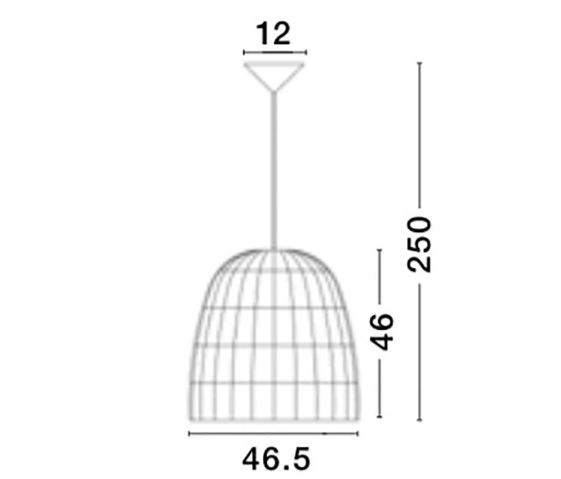 Nova Luce NL-9586671 Destin függeszték