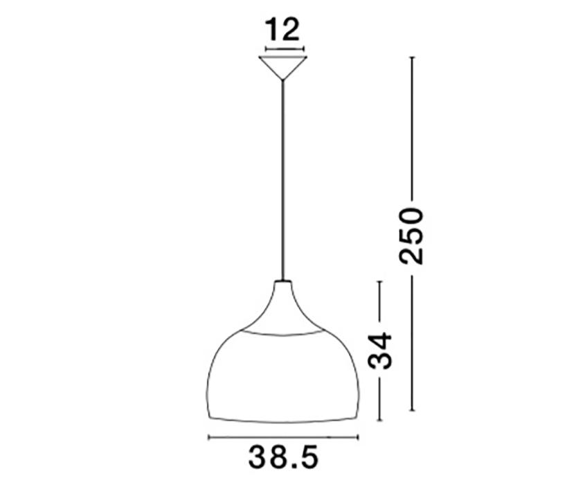 Nova Luce NL-9594341 Mia függeszték