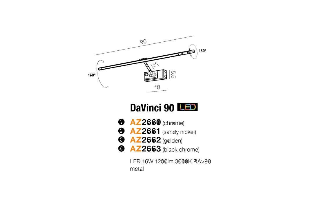 Azzardo AZ-2663 DaVinci LED képmegvilágító