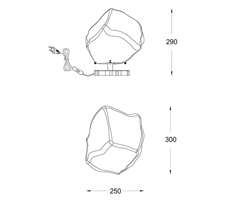 Zuma ZU-T0488-01A-U8AC Rock asztali lámpa