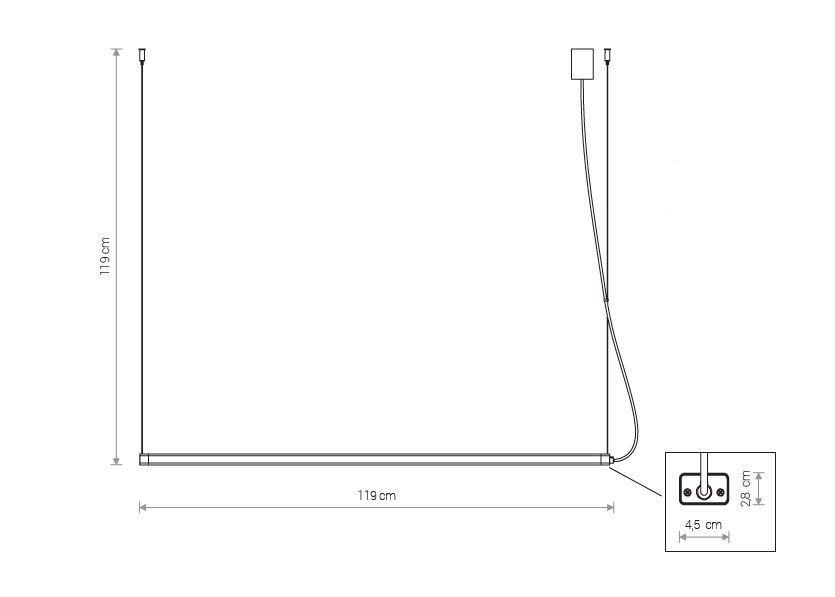 Nowodvorski TL-8908 H LED függeszték