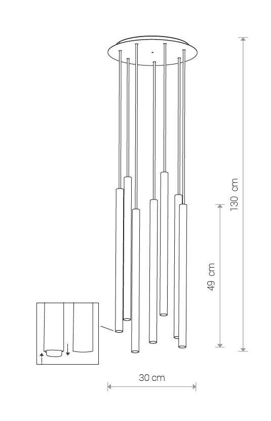 Nowodvorski TL-8920 7 izzós Laser függeszték