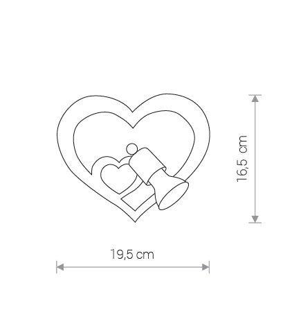 Nowodvorski TL-9062 Heart fali lámpa