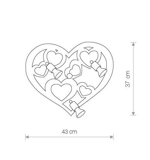 Nowodvorski TL-9064 Heart 3 izzós gyermek fali / mennyezeti lámpa