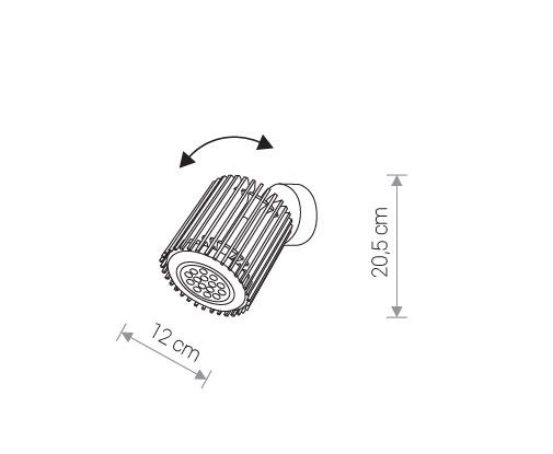 Nowodvorski TL-9133 Roller spotlámpa
