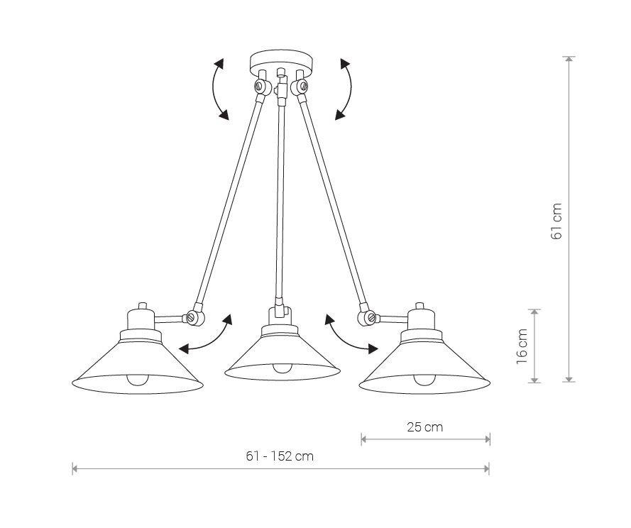 Nowodvorski TL-9142 Techno 3 izzós mennyezeti lámpa