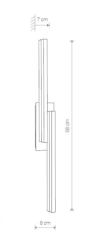 Nowodvorski TL-9157 Sparta LED fürdõszobai fali lámpa