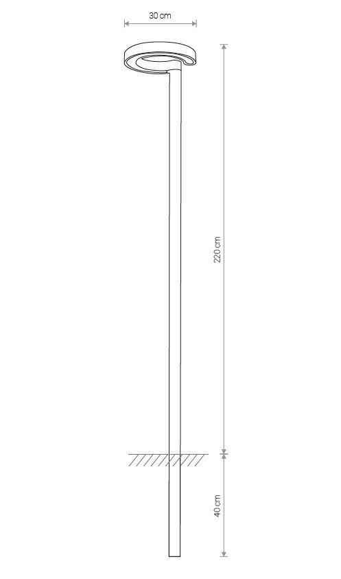 Nowodvorski TL-9185 Pole LED kültéri állólámpa