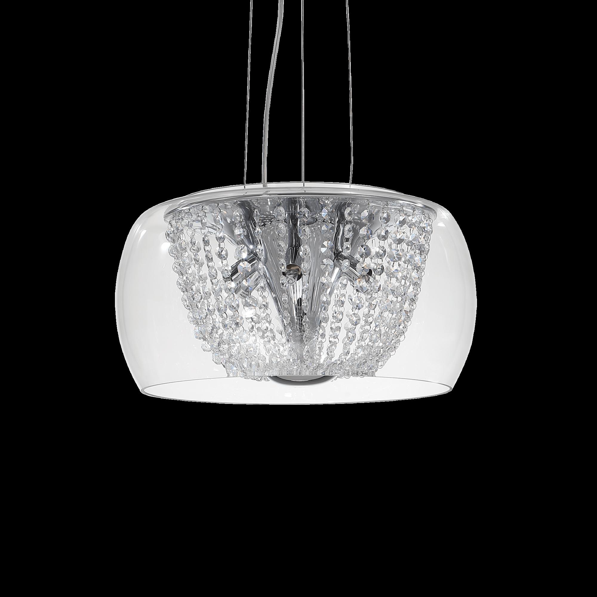 Ideal Lux 133874 Audi-61 SP6 kristály lámpa függeszték