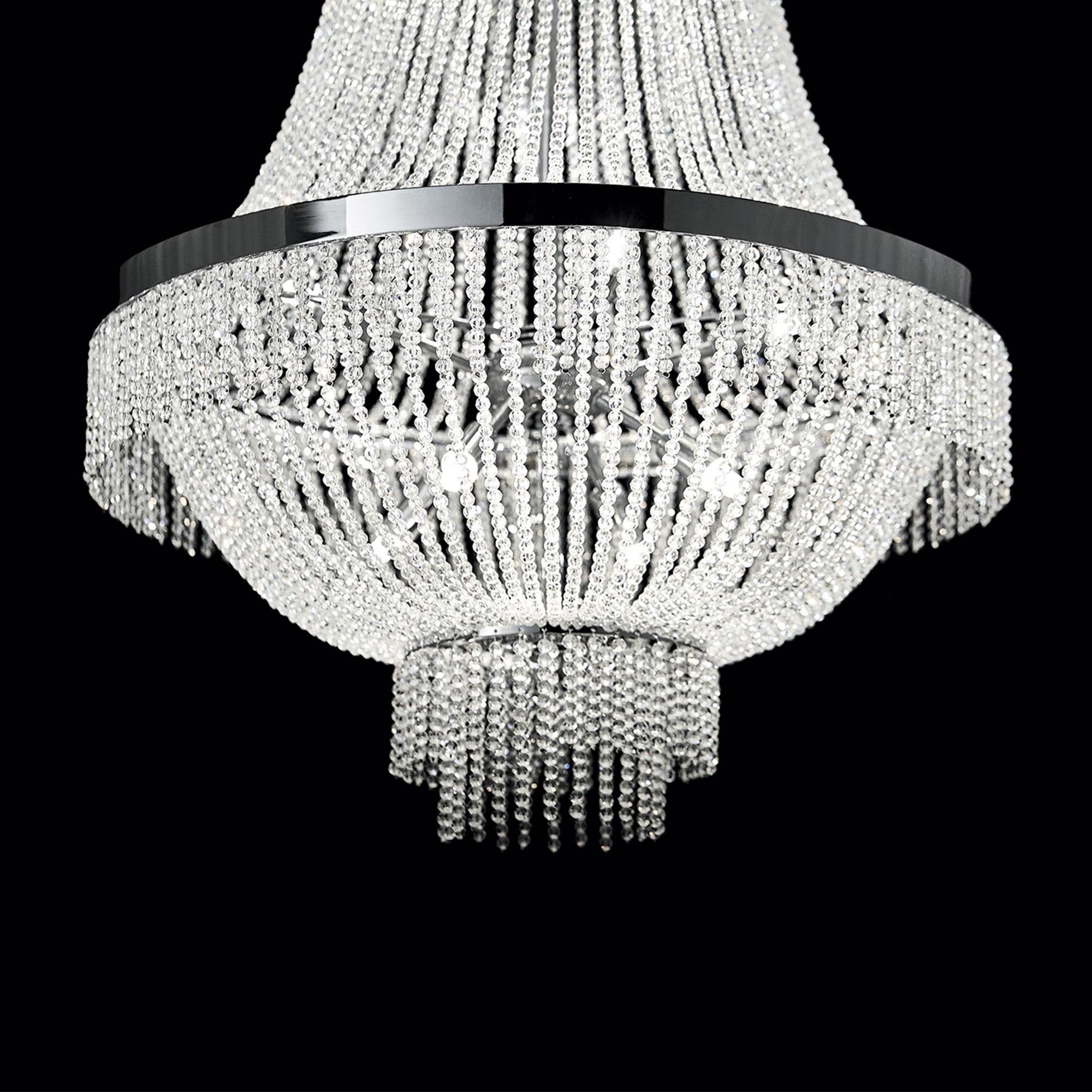 Ideal Lux 112800 Augustus SP12 Cromo kristály függeszték