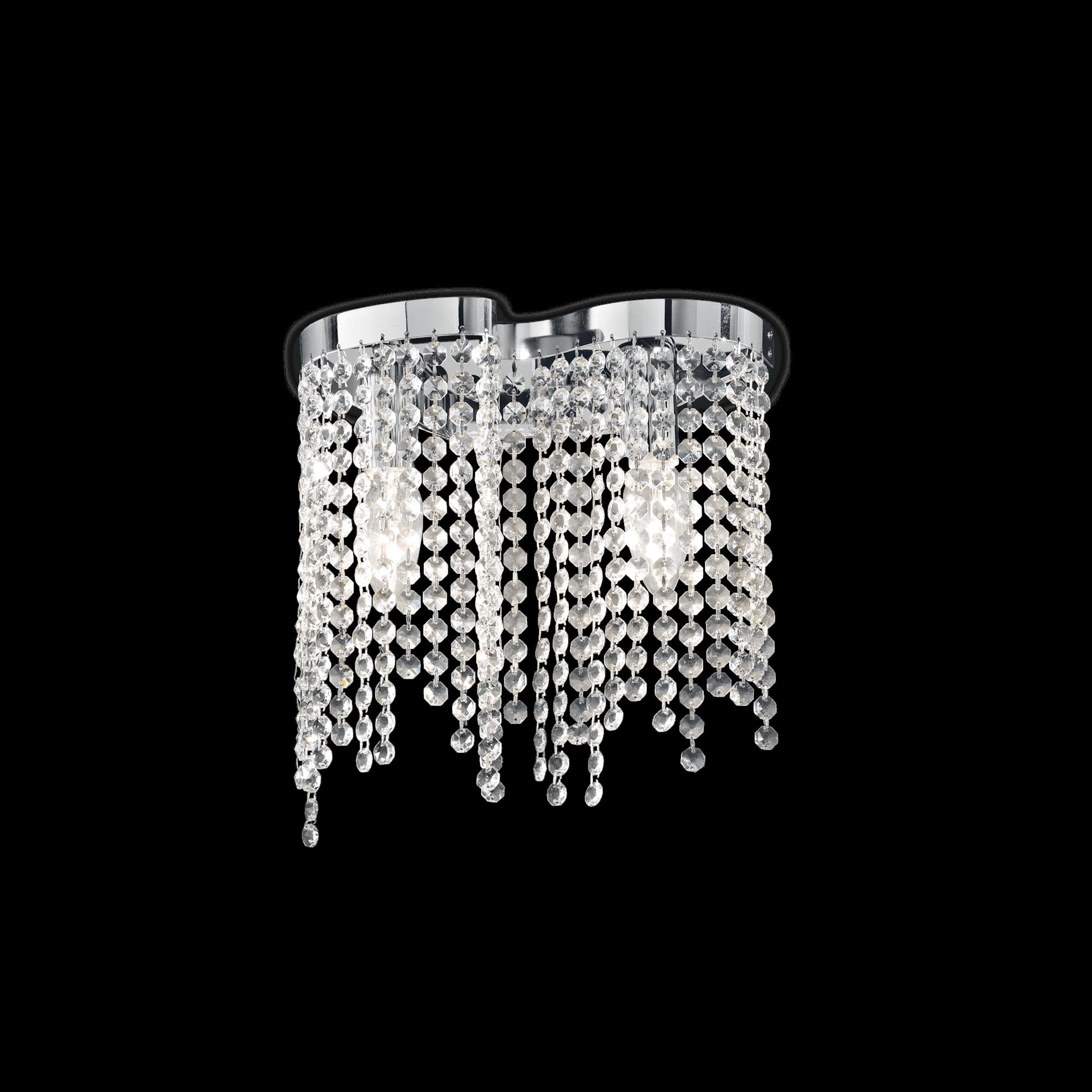 Ideal Lux 013763 Aurora AP2 kristály falilámpa