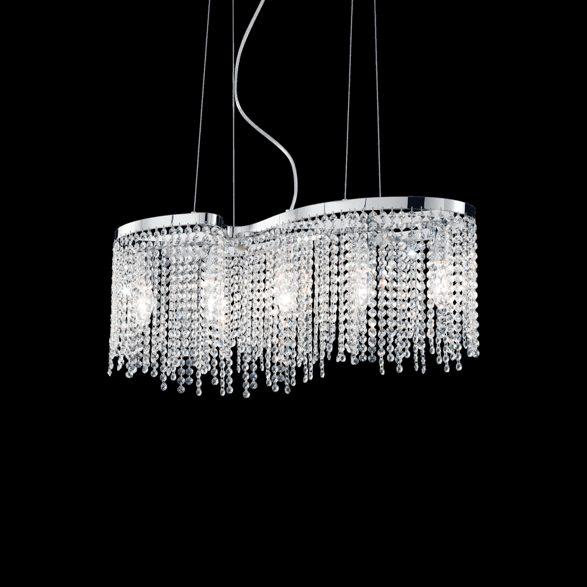 Ideal Lux 013923 Aurora SP5 kristály függeszték