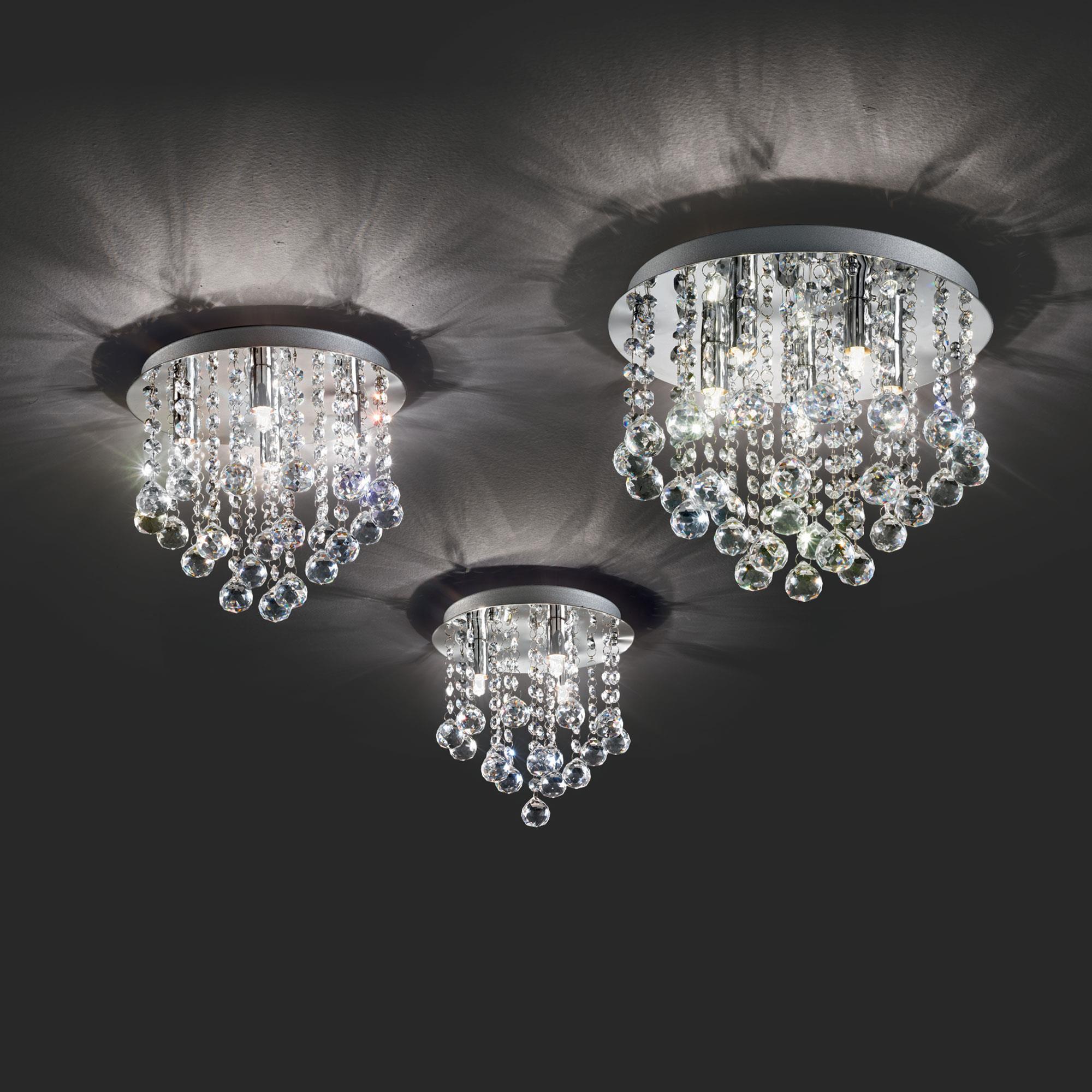Ideal Lux 089478 Bijoux PL4 modern mennyezeti kristálylámpa