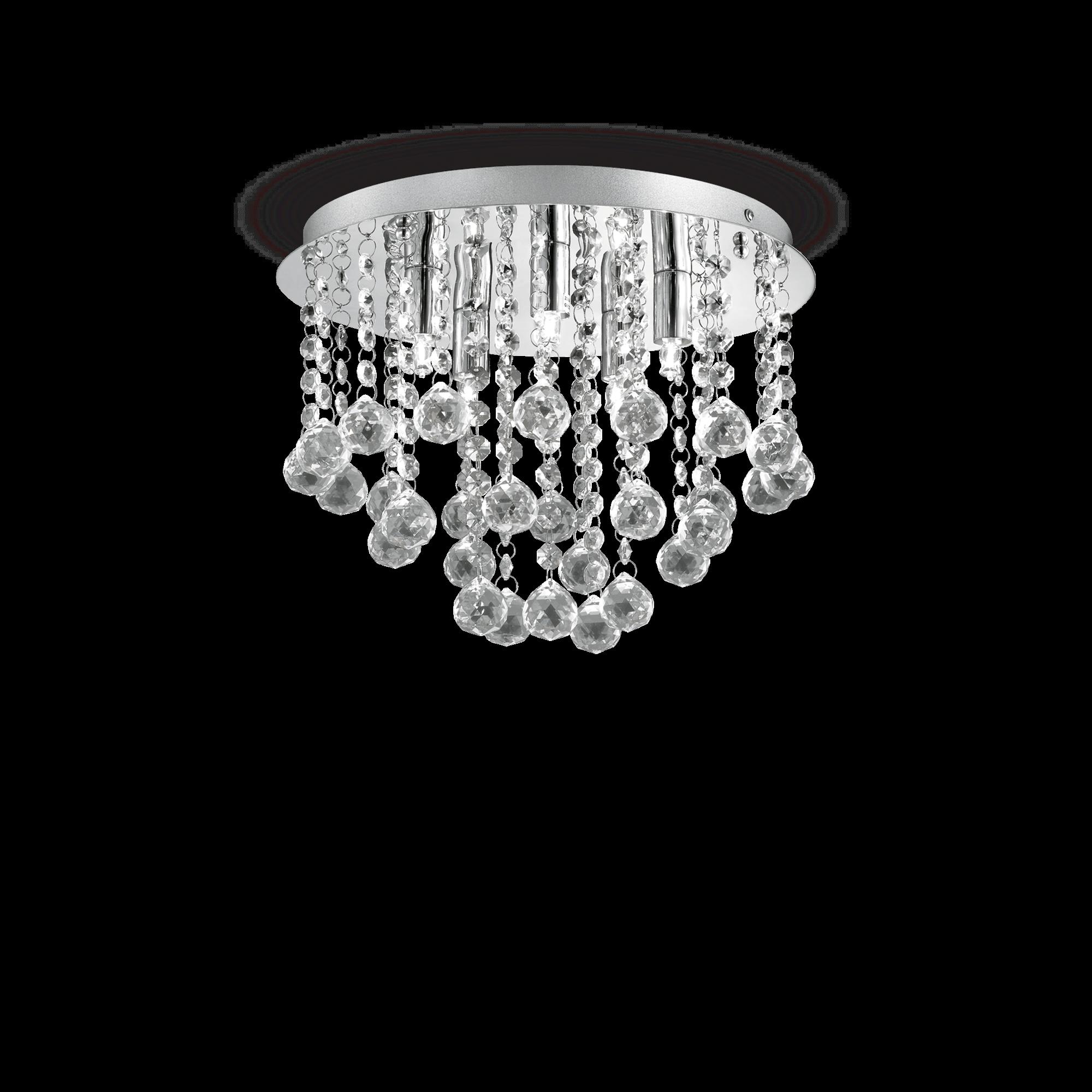 Ideal Lux 089485 Bijoux PL5 modern mennyezeti kristálylámpa