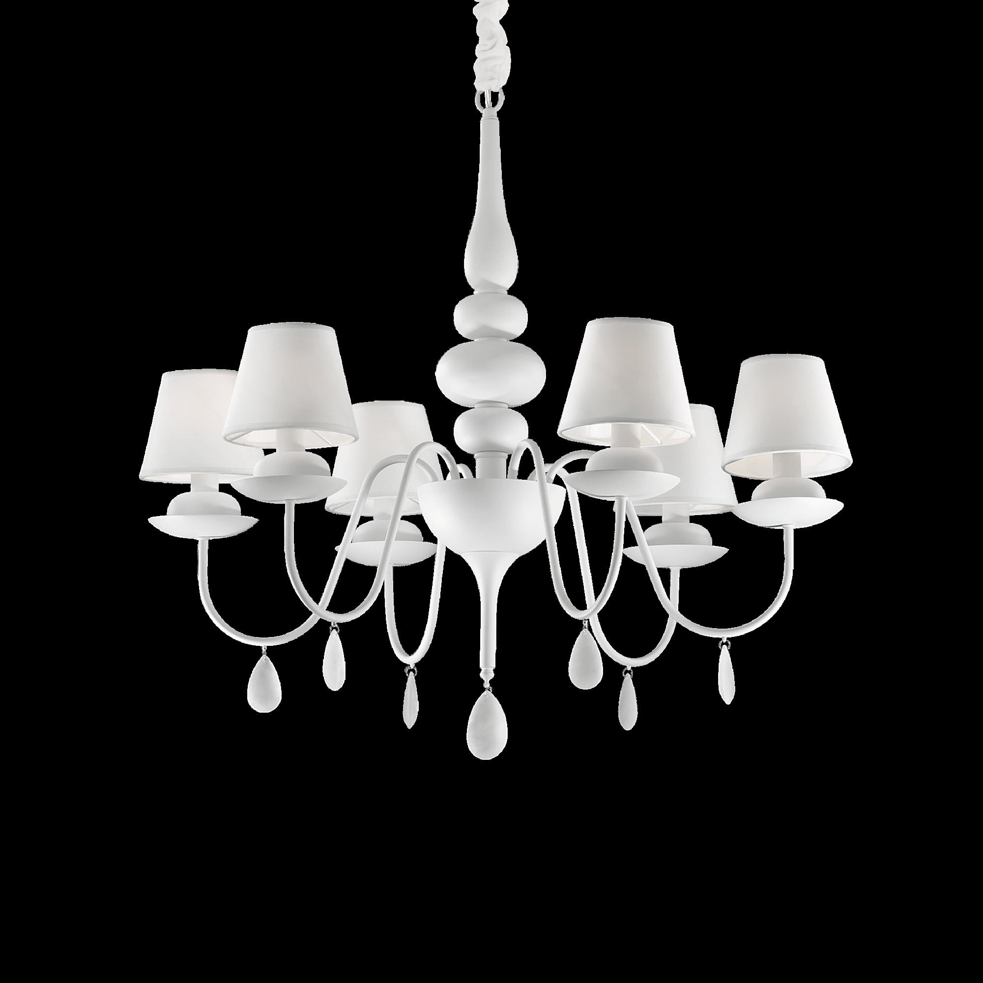 Ideal Lux 035581 Blanche SP6 Bianco csillárfüggeszték