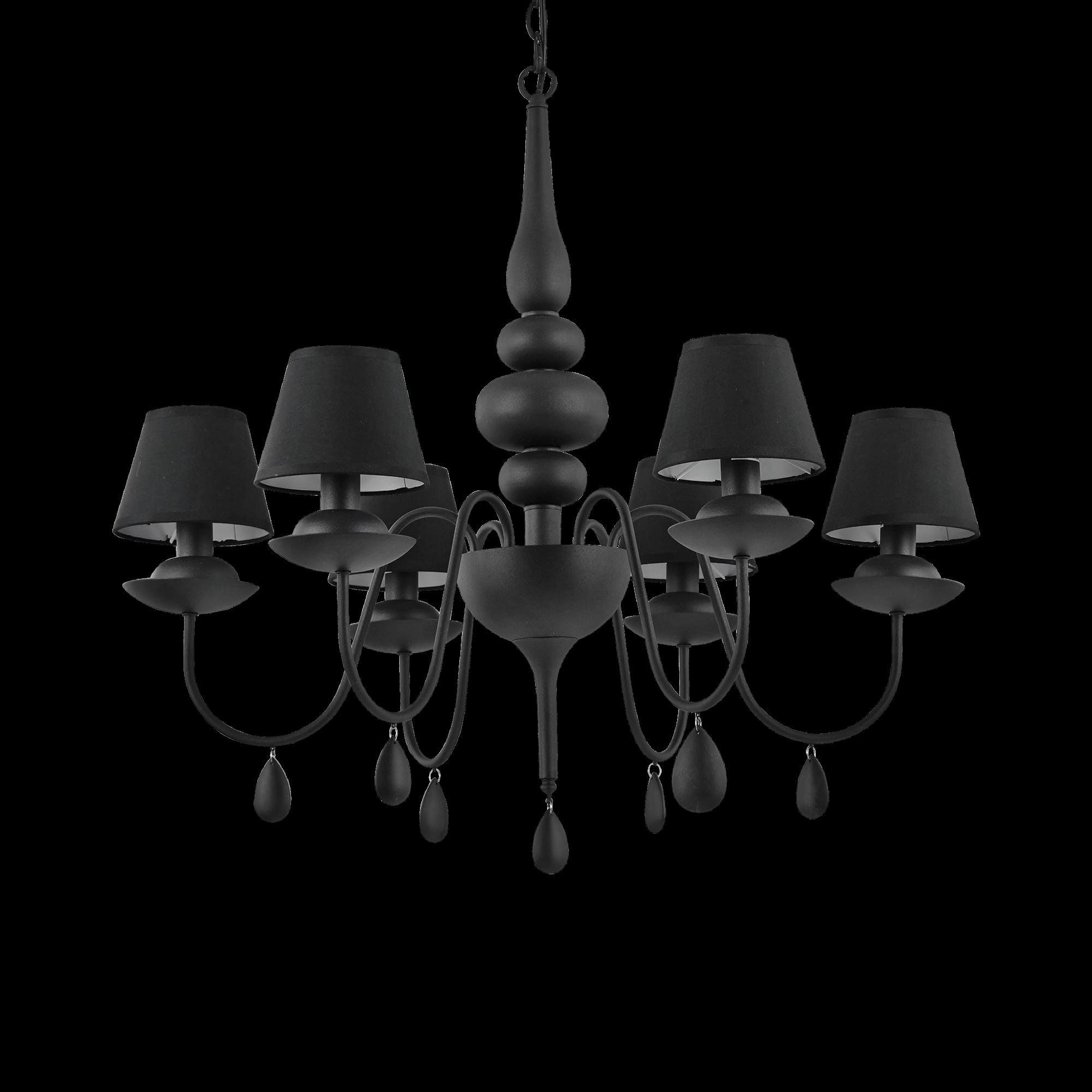 Ideal Lux 111872 Blanche SP6 Nero csillárfüggeszték