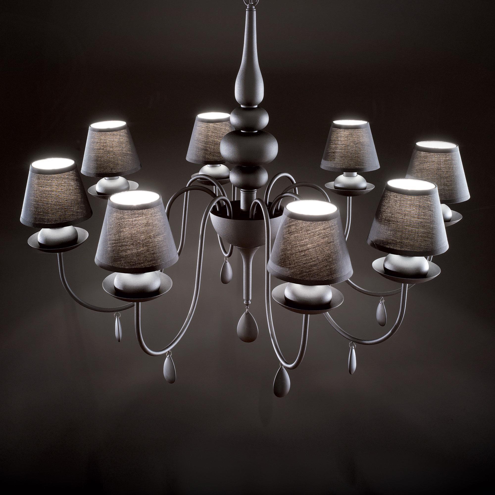 Ideal Lux 111896 Blanche SP8 Nero csillárfüggeszték