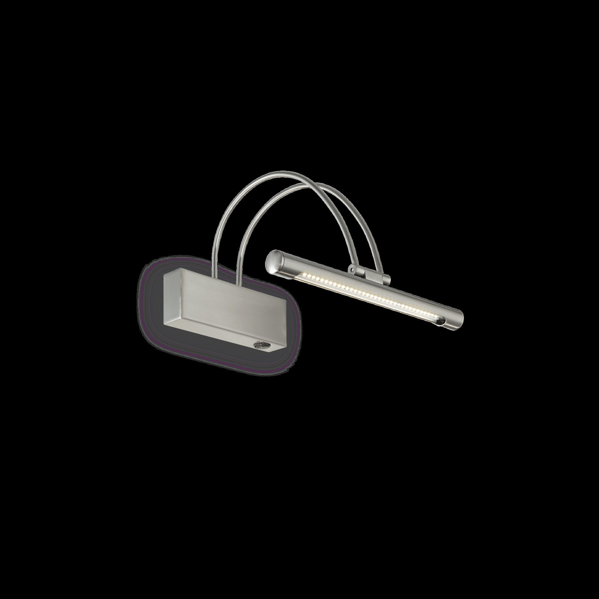 Ideal Lux 005379 Bow AP36 Nickel LED képmegvilágító lámpa
