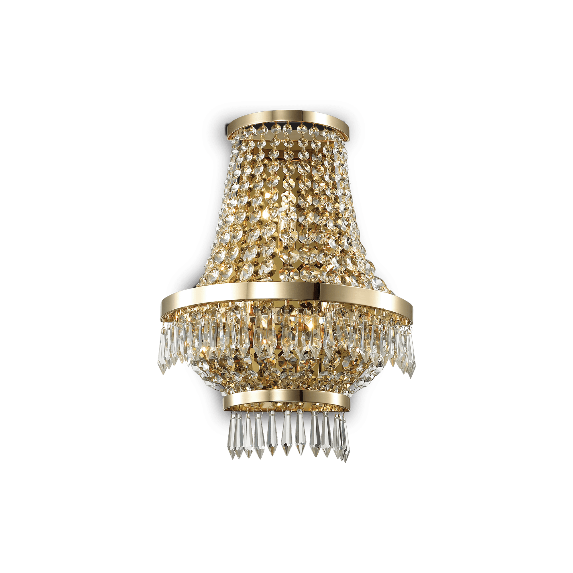 Ideal Lux 137704 CAESAR AP3 ORO kristály falilámpa