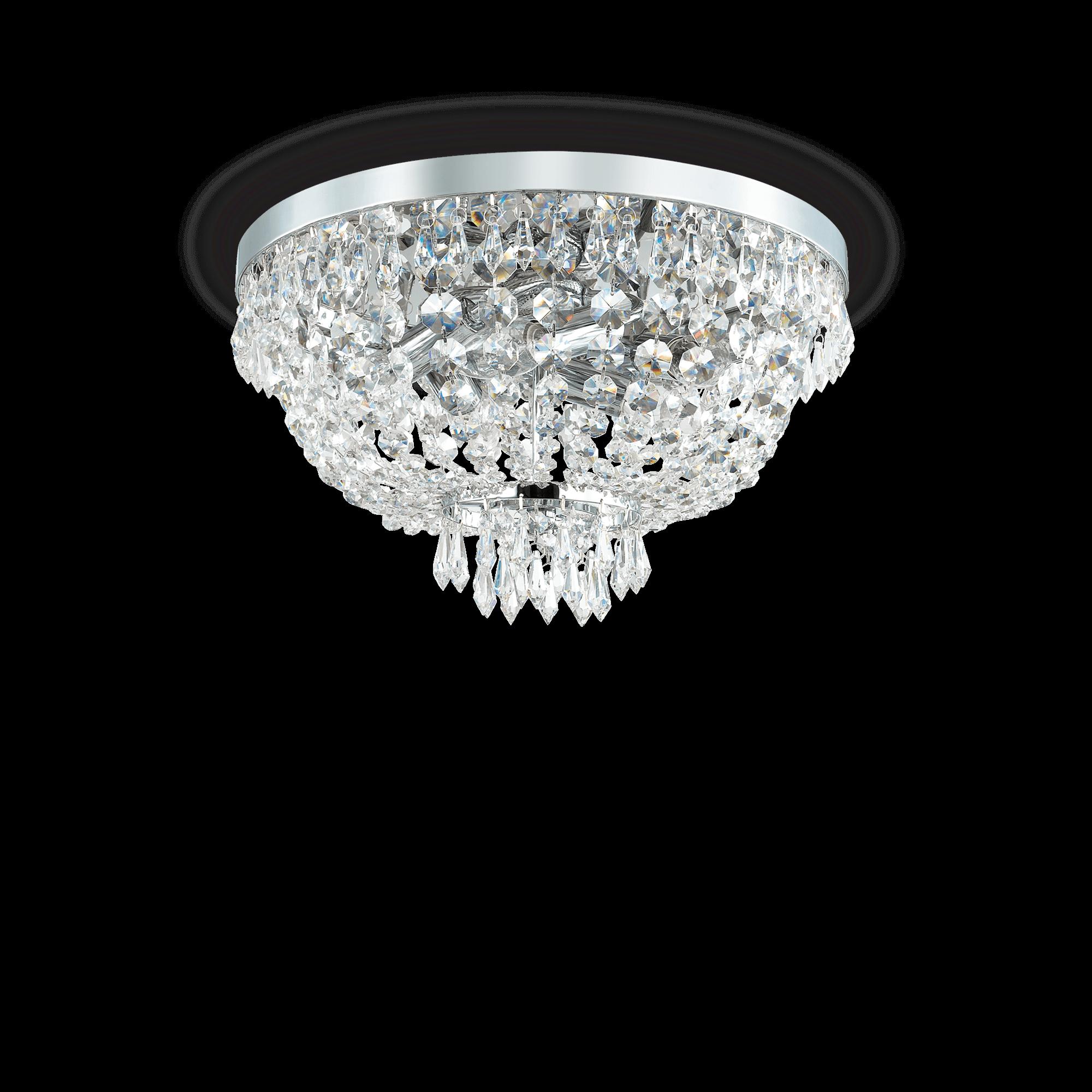 Ideal Lux 103792 Caesar PL5 Crom mennyezeti kristály lámpa