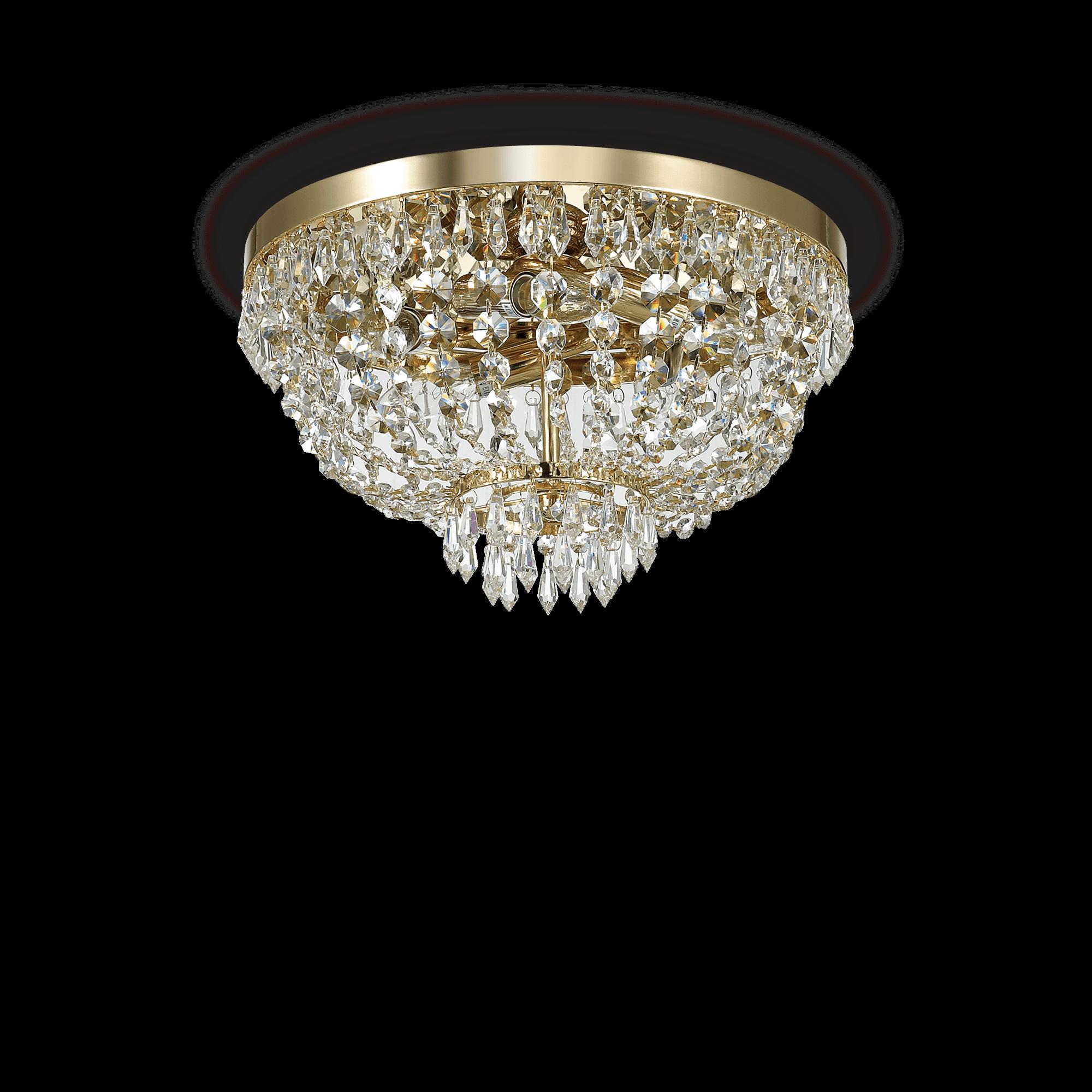 Ideal Lux 114675 Caesar PL5 Oro kristály mennyezeti lámpa