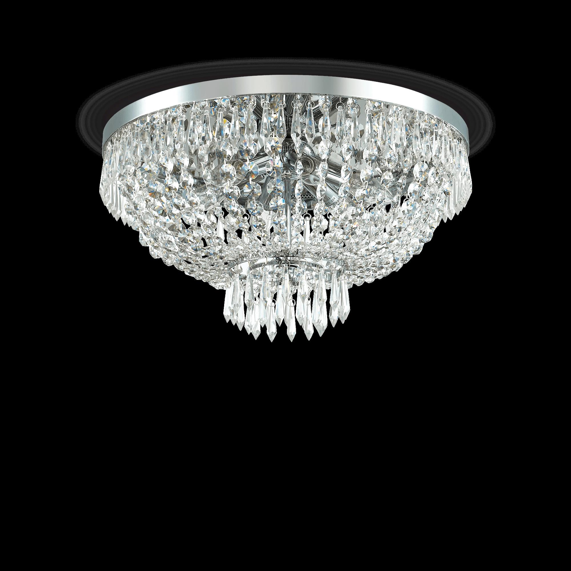 Ideal Lux 093475 Caesar PL6 Cromo kristály mennyezeti lámpa