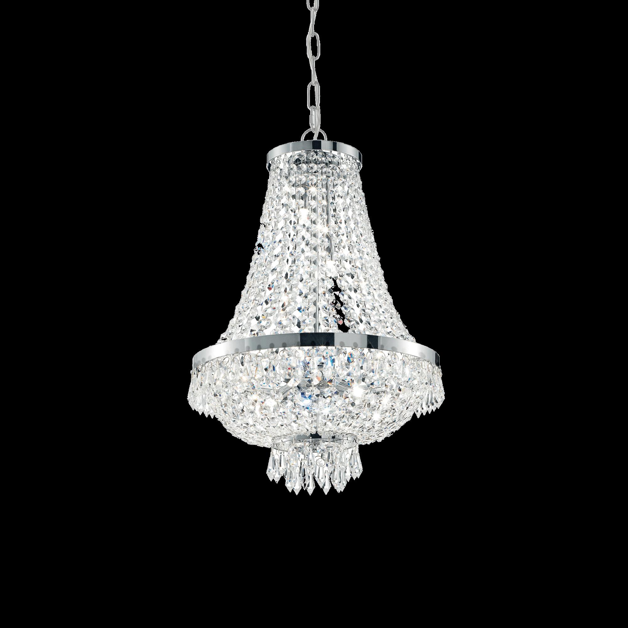 Ideal Lux 033532 Caesar SP6 Cromo kristály függeszték
