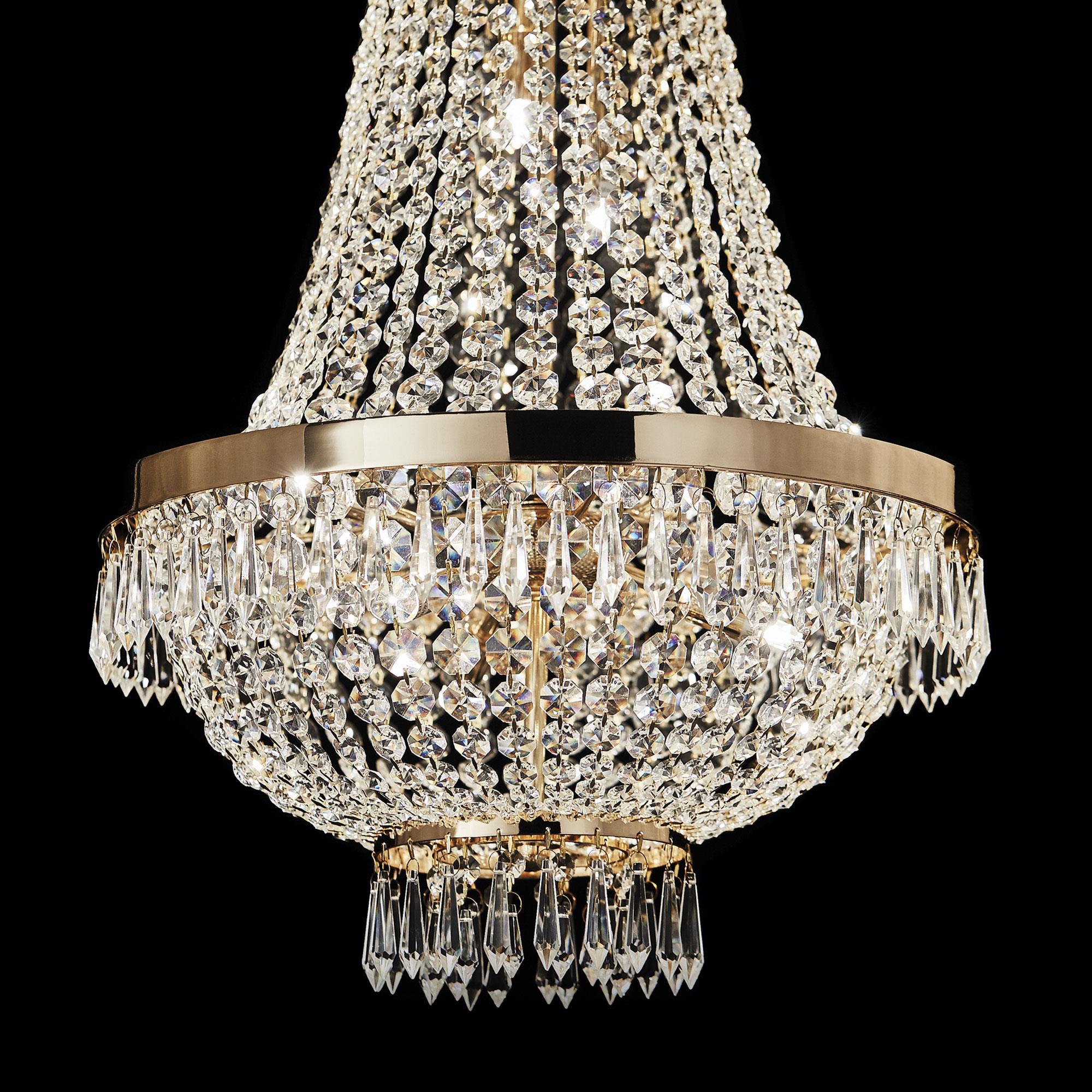 Ideal Lux 114729 Caesar SP6 Oro kristály függeszték