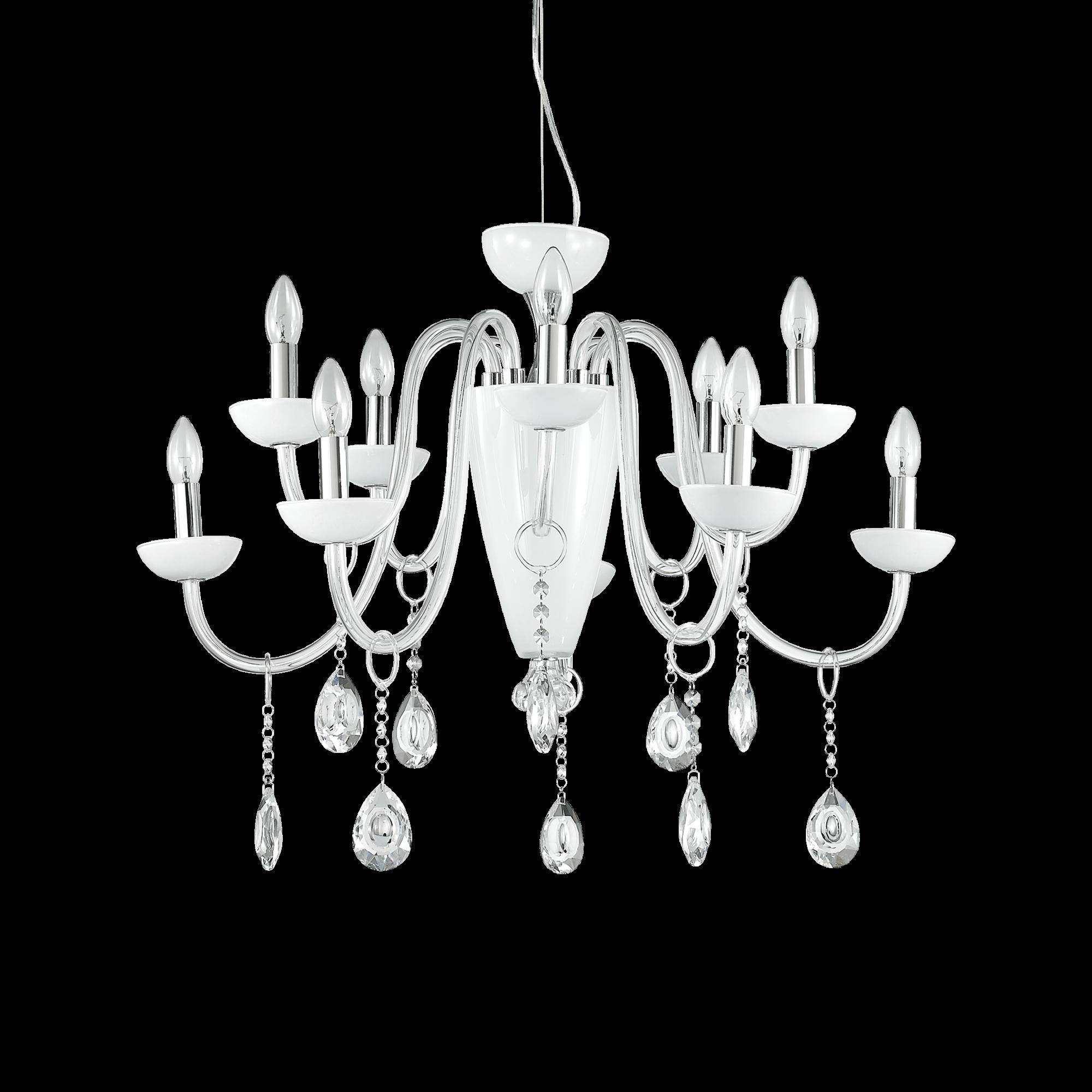 Ideal Lux 117782 Camelia SP11 Bianco kristály csillár