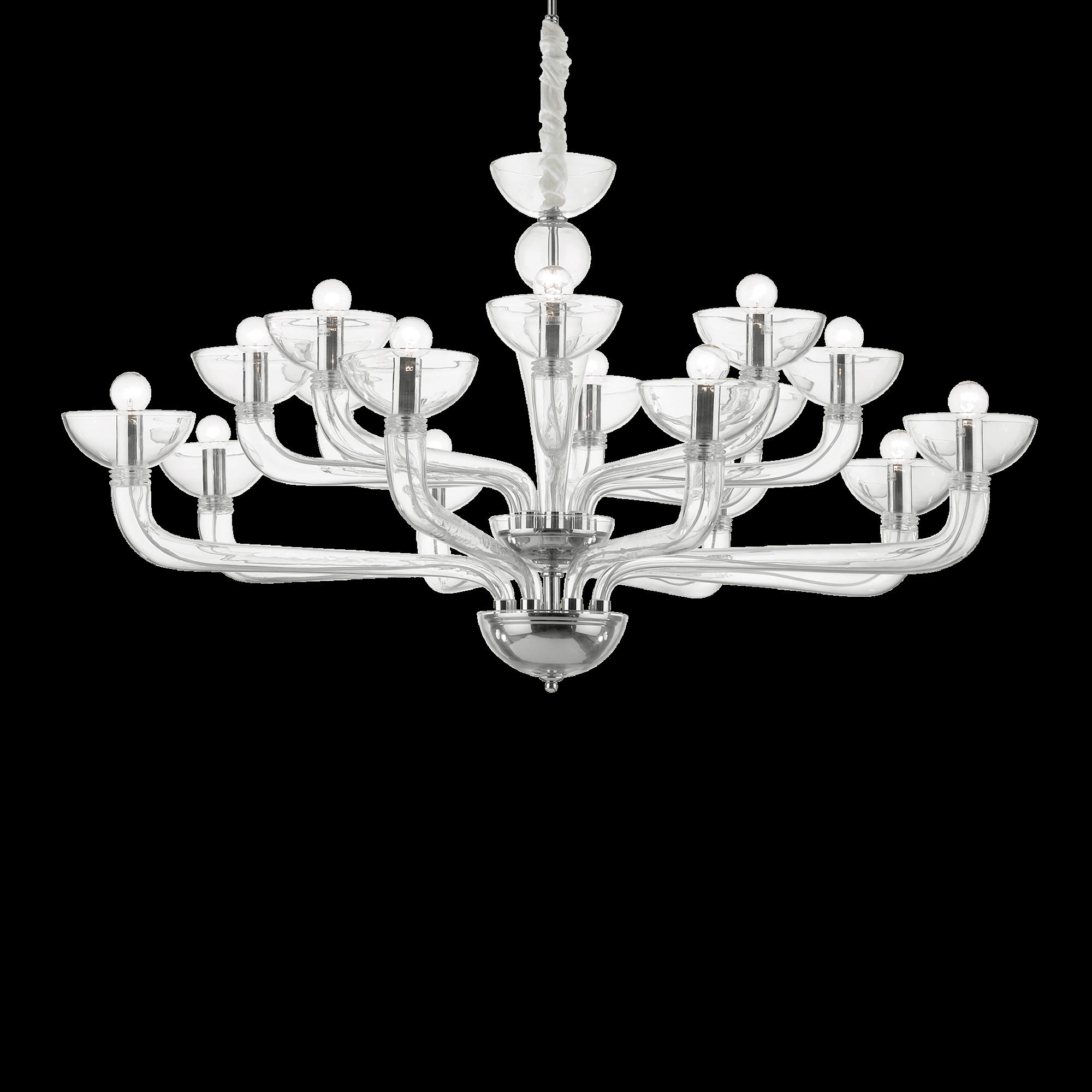 Ideal Lux 044248 Casanova SP16 Trasparente Modern csillárfüggeszték