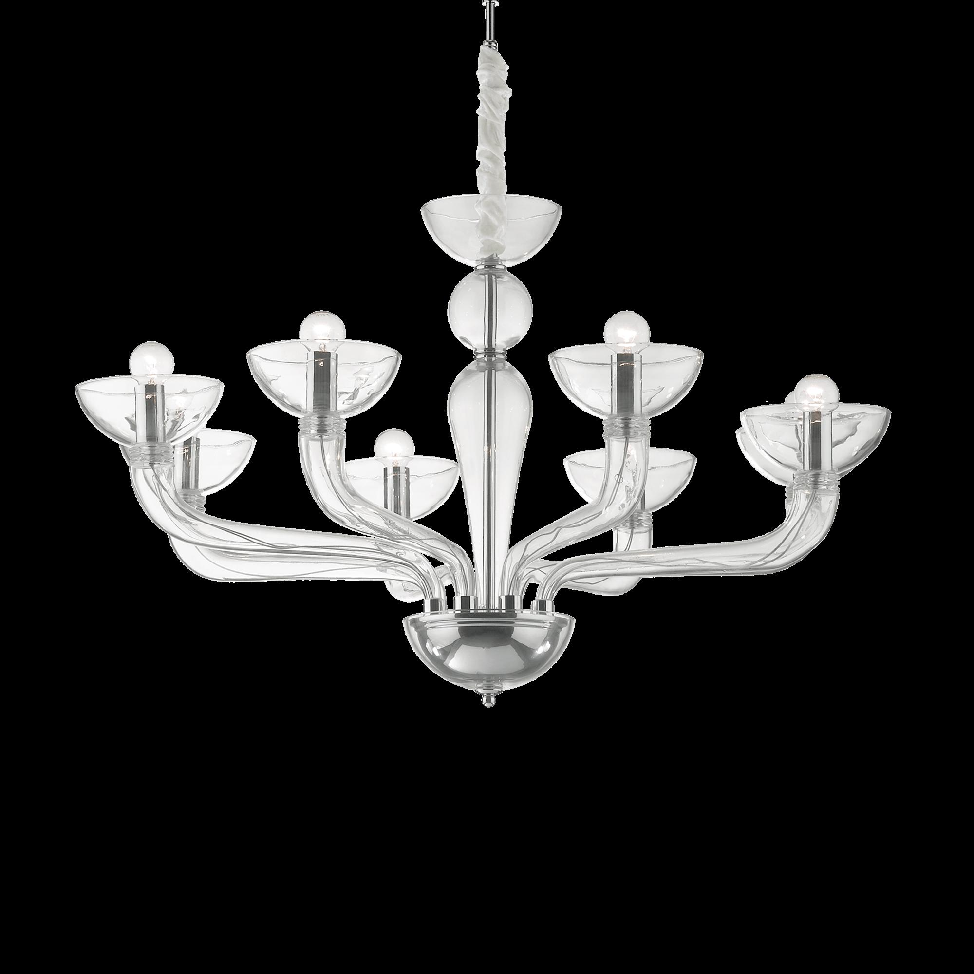 Ideal Lux 044255 Casanova SP8 Trasparente Modern csillárfüggeszték