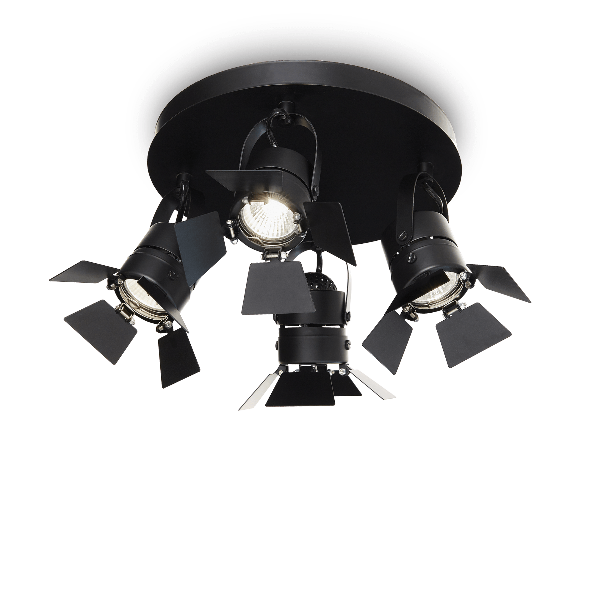 Ideal Lux 095707 Ciak PL4 Nero spot mennyezeti lámpa