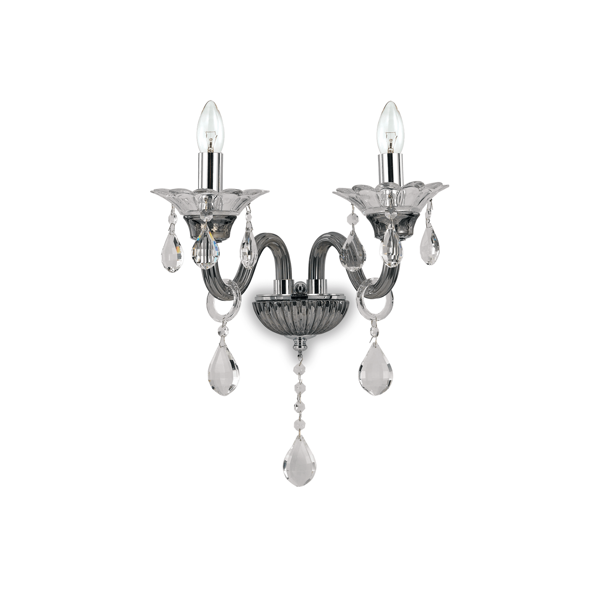 Ideal Lux 081496 Colossal AP2 Grigio kristály falilámpa