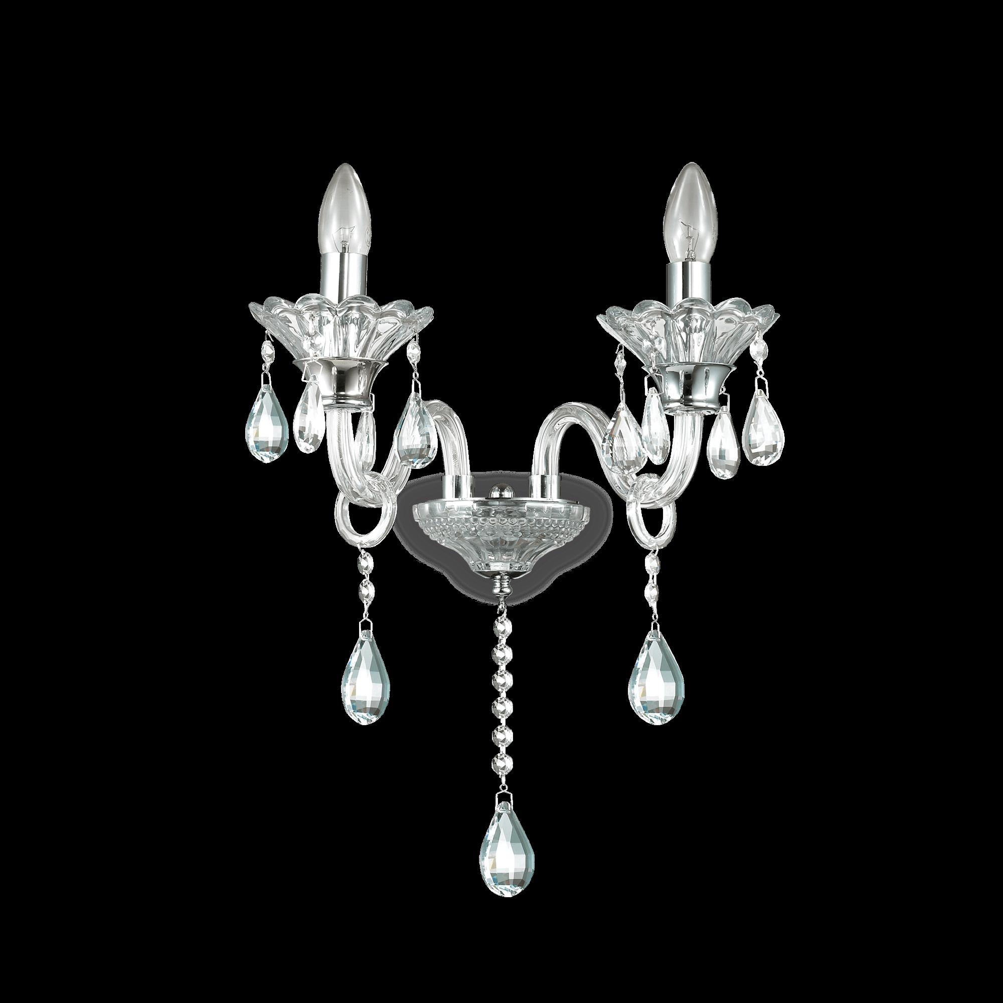 Ideal Lux 114200 Colossal AP2 Trasparente kristály falilámpa