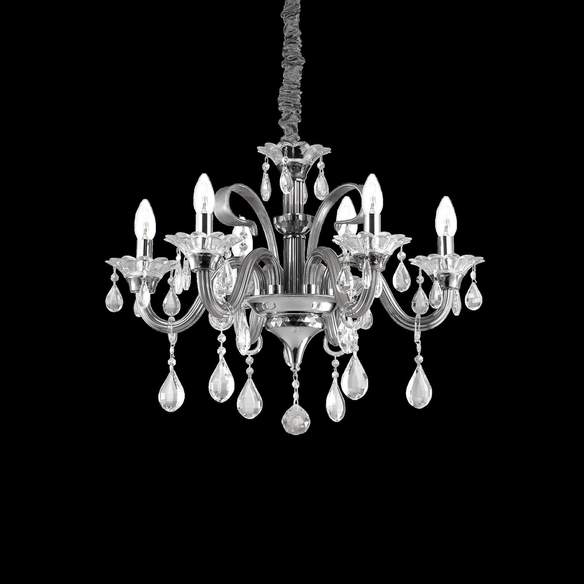 Ideal Lux 081502 Colossal SP6 Grigio kristály csillár