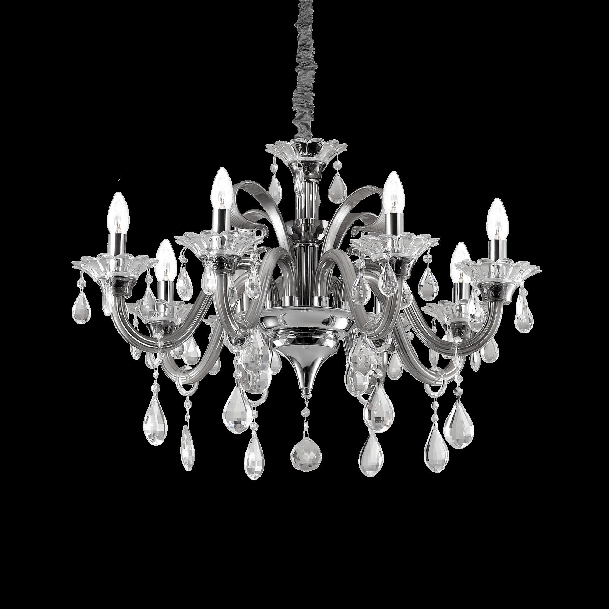 Ideal Lux 081519 Colossal SP8 Grigio kristály csillár