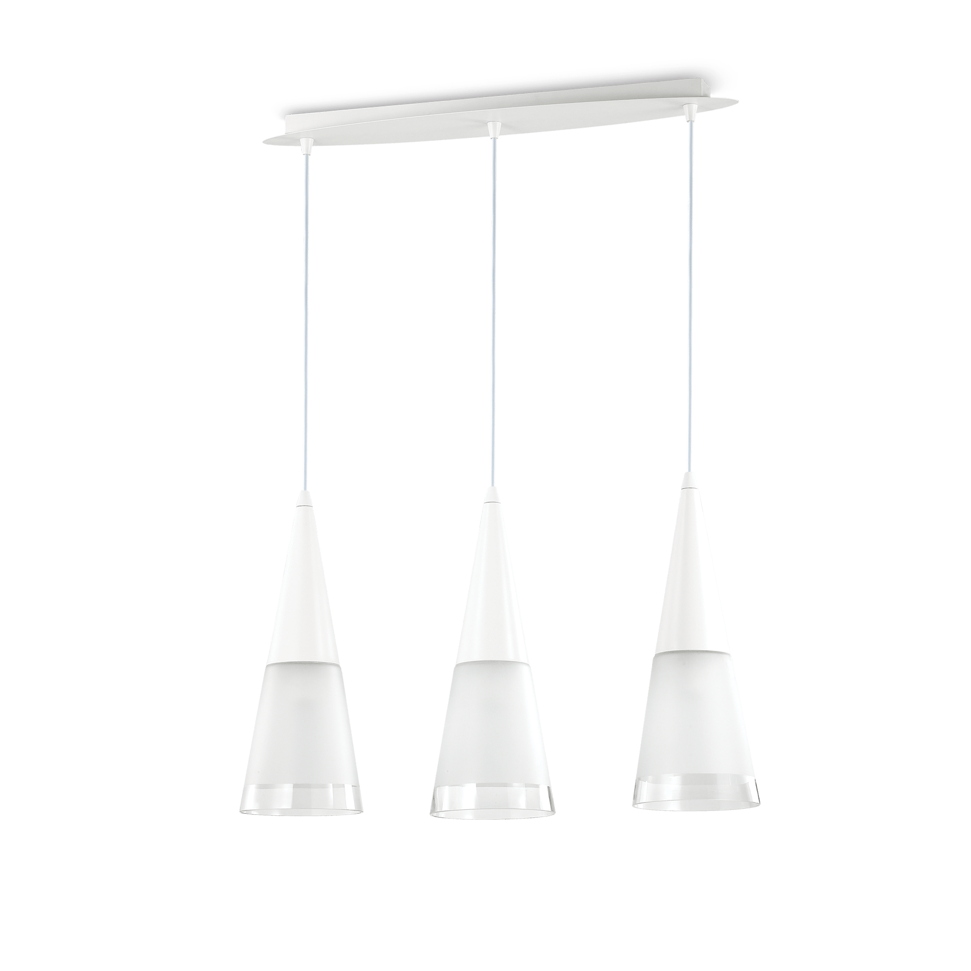 Ideal Lux 112381 Cono SP3 Bianco lámpa függeszték