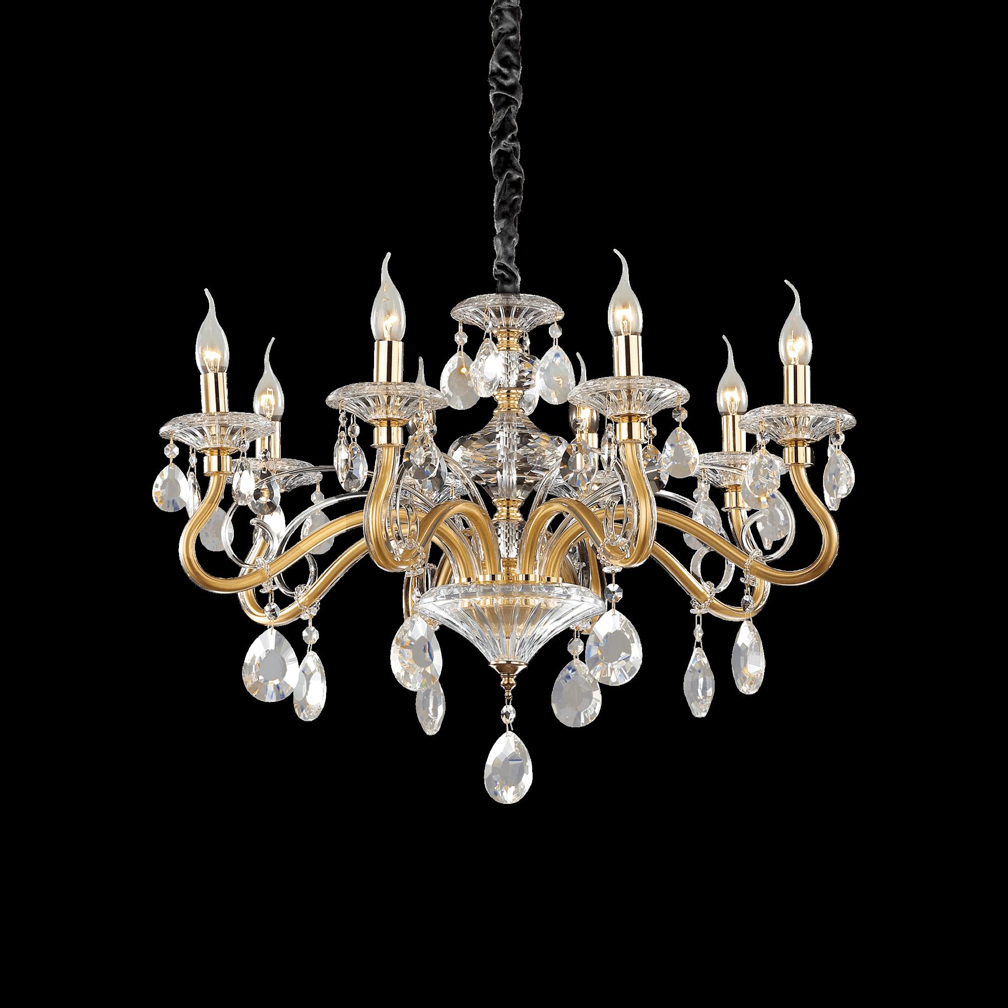 Ideal lux 087764 Negresco SP8 Oro csillár lámpa