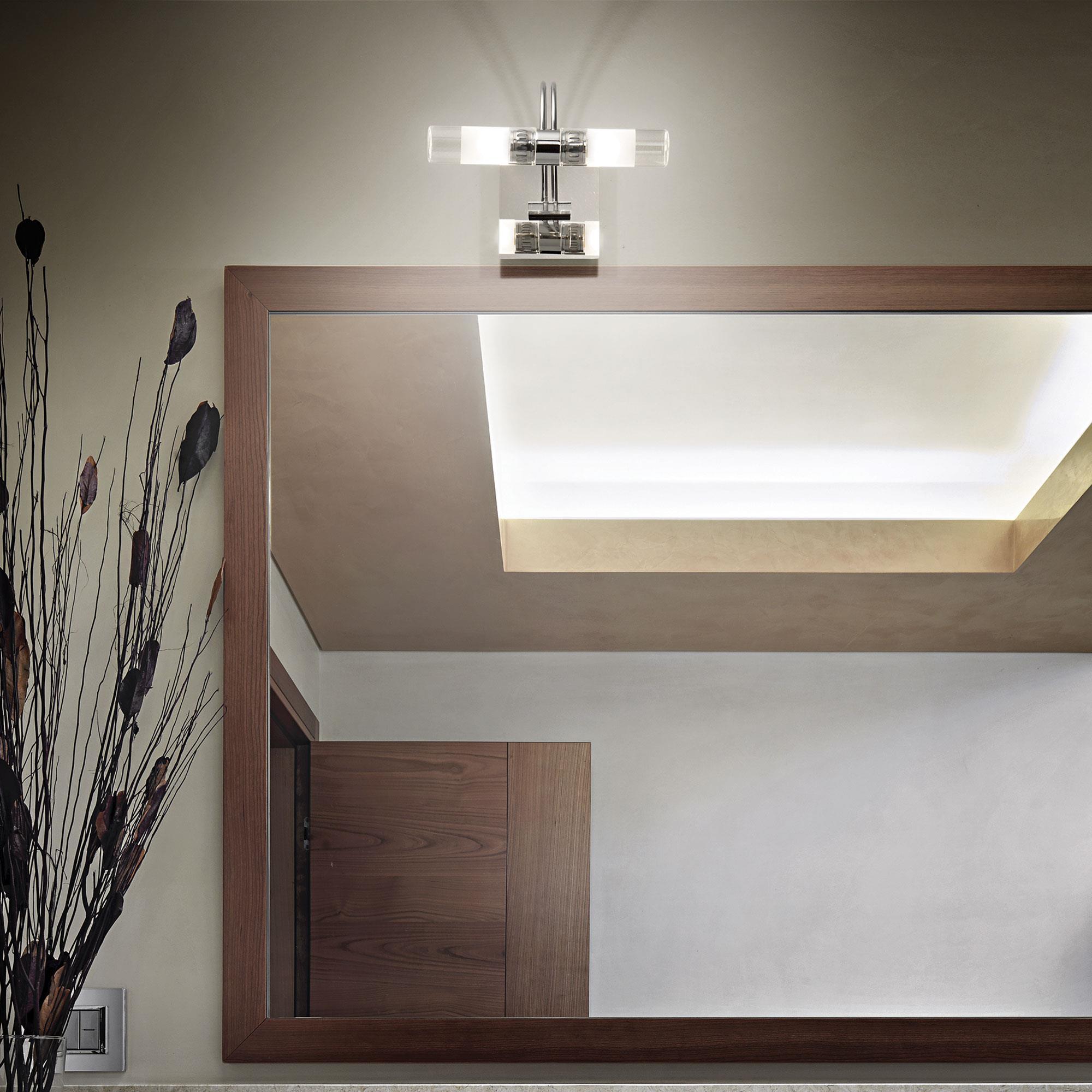 Ideal Lux 008851 Double AP2 Cromo falilámpa