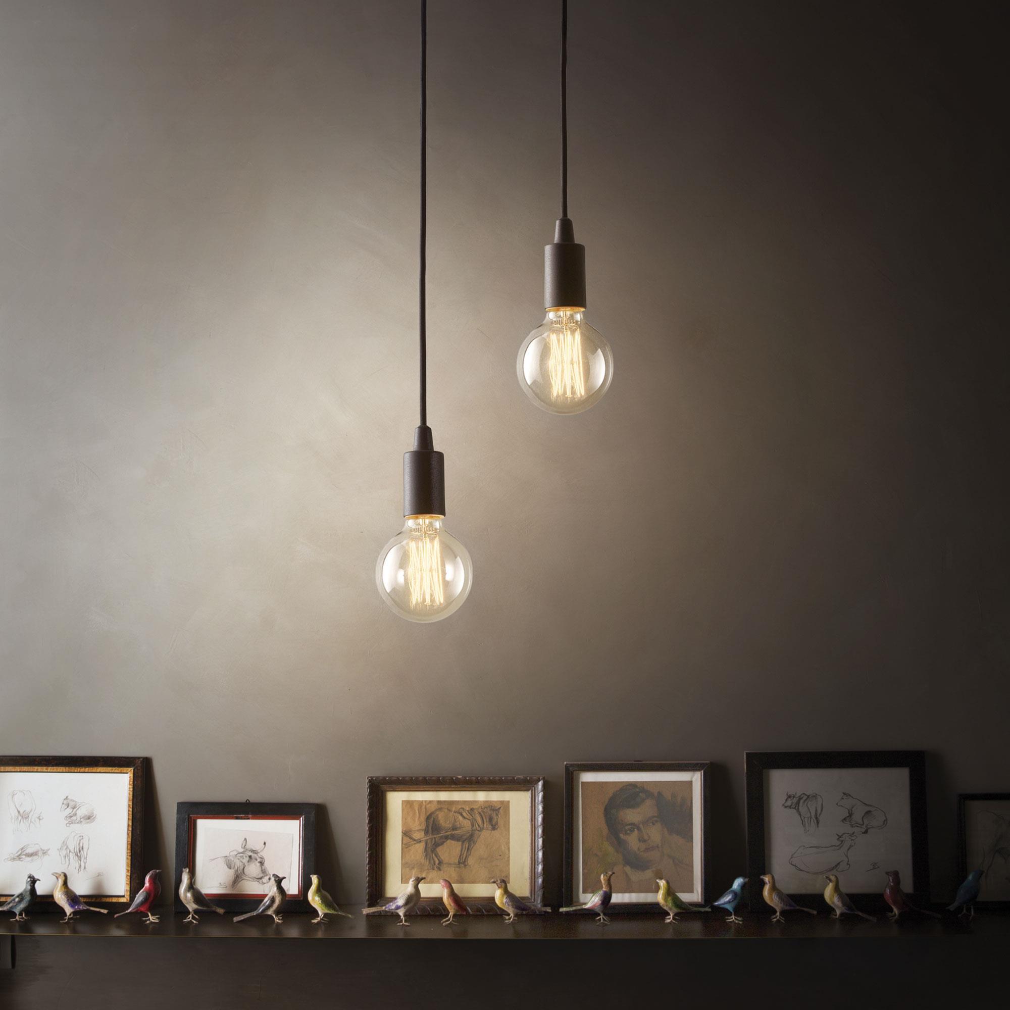 Ideal Lux 113319 Edison SP1 Nero 1 izzós függeszték