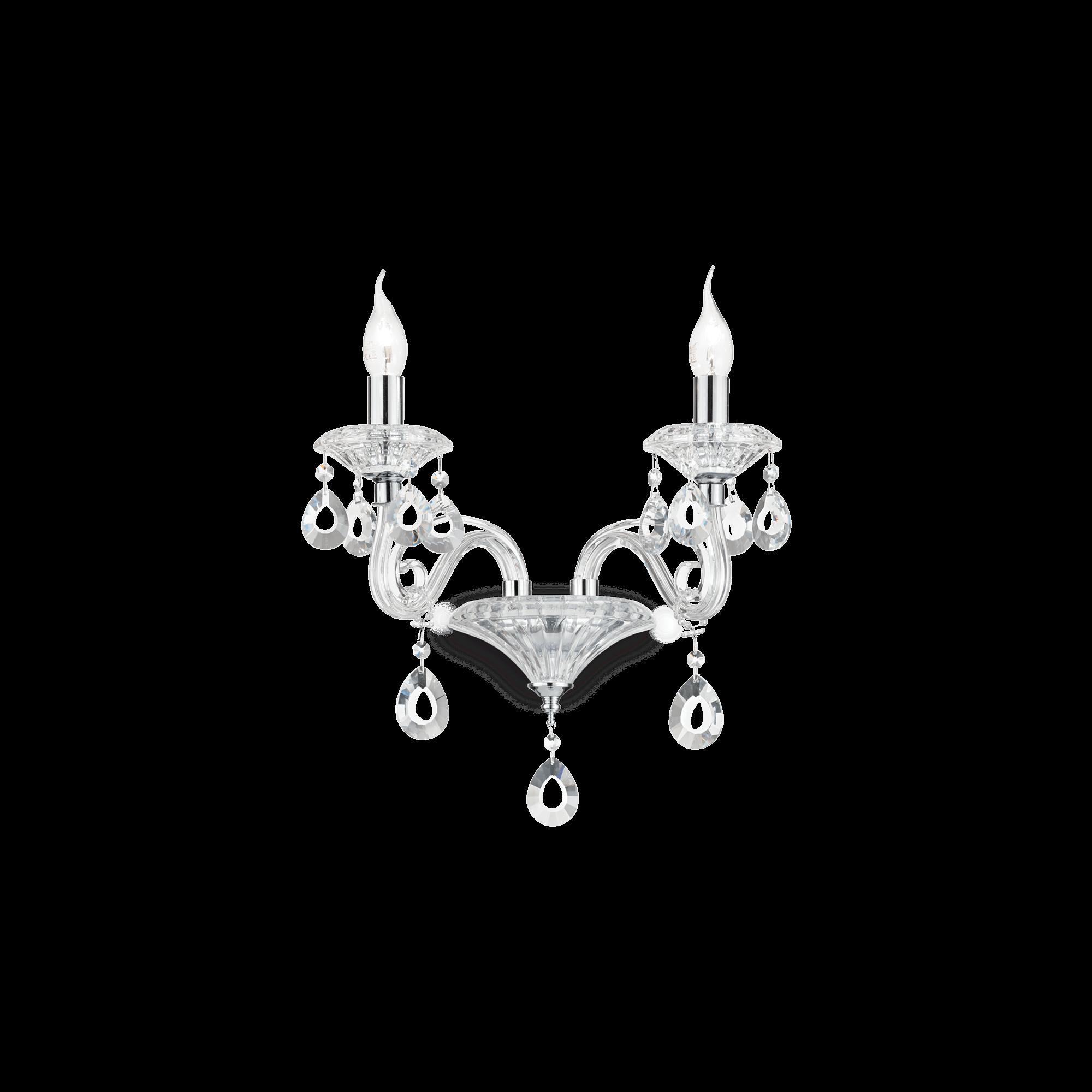 Ideal Lux 141046 NEGRESCO AP2 TRASPARENTE klasszikus falikar