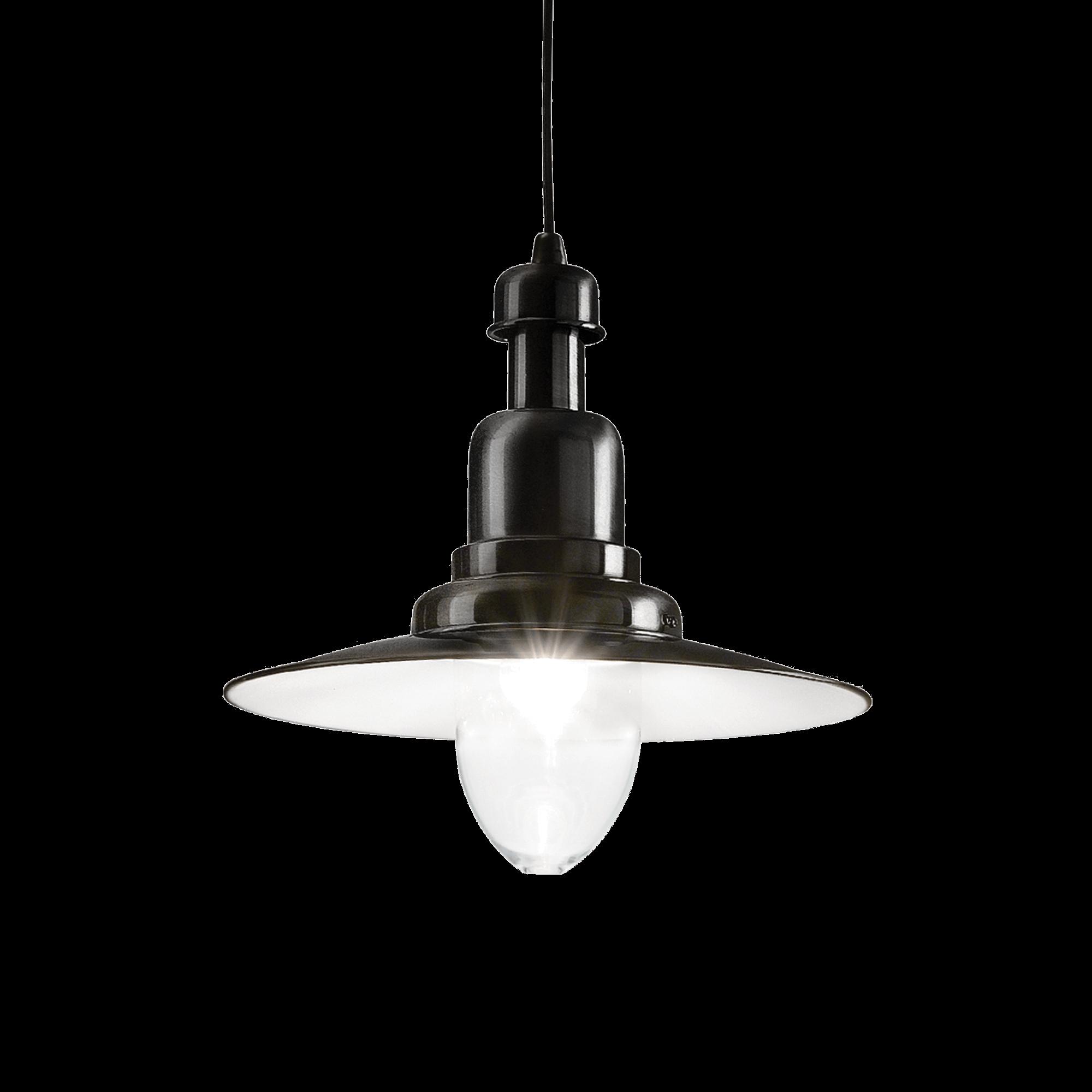 Ideal Lux 122052 Fiordi SP1 Nero lámpa függeszték