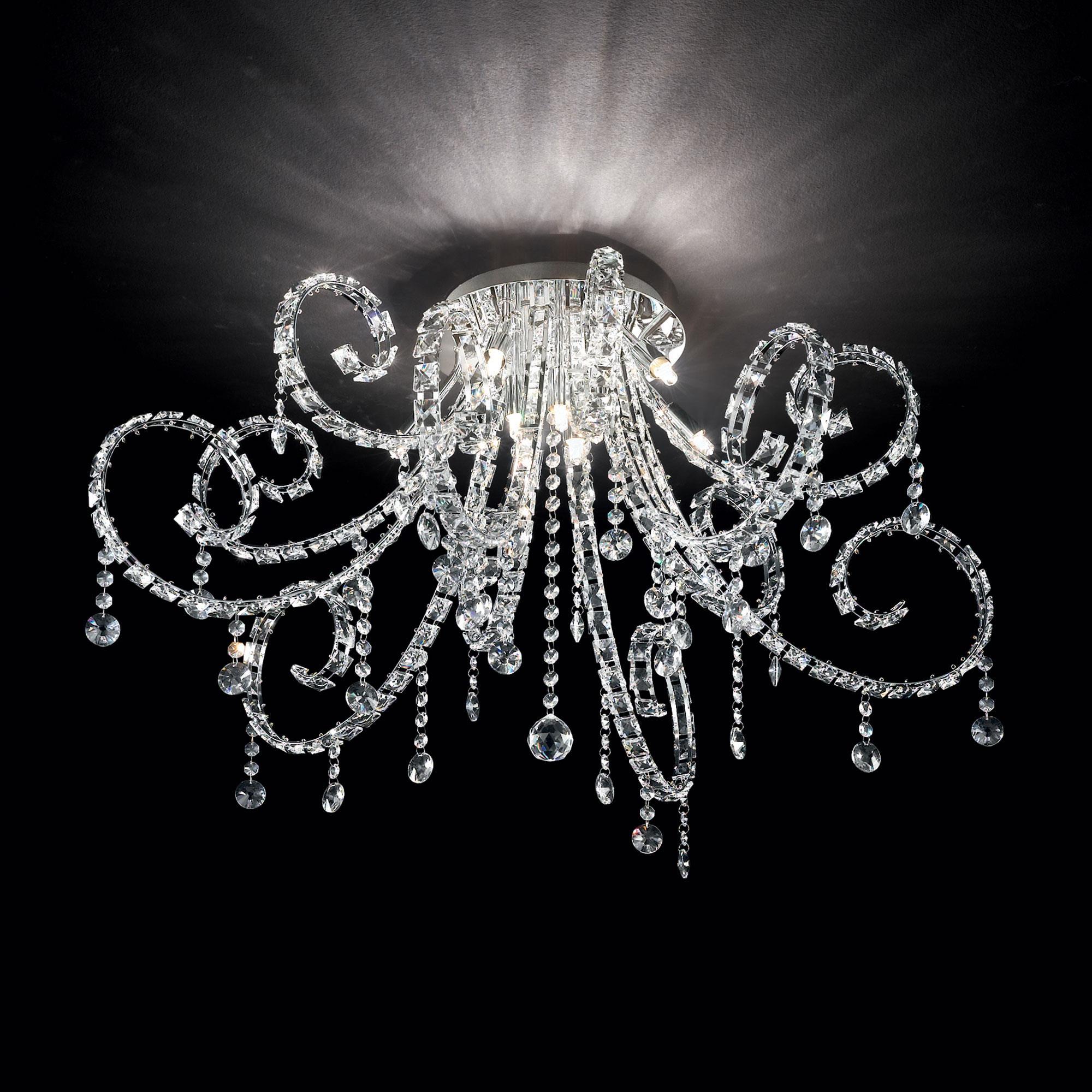 Ideal Lux 089430 Fiore PL6 mennyezeti kristály lámpa