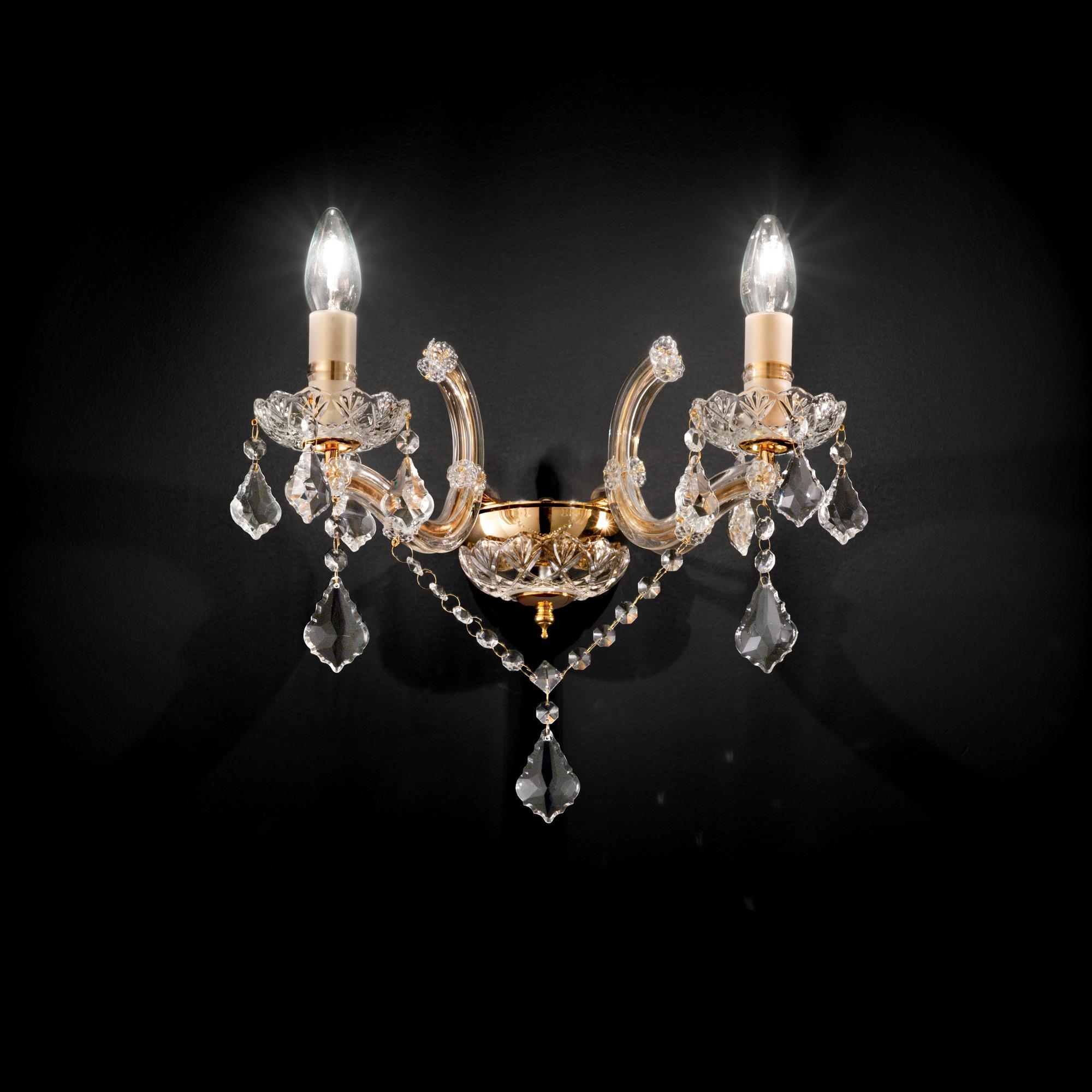Ideal Lux 035659 Florian AP2 Oro kristály falikar lámpa