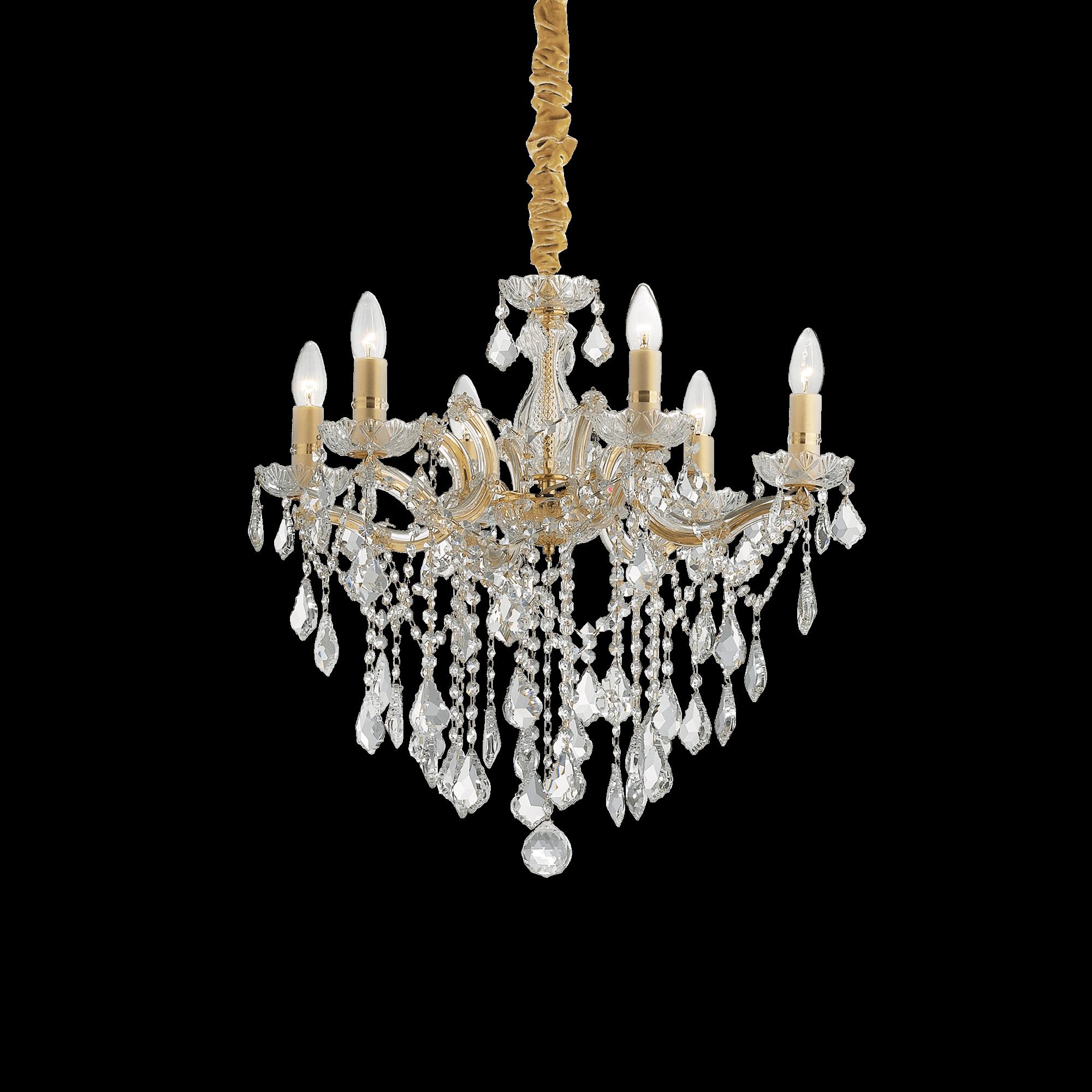 Ideal Lux 035635 Florian SP6 Oro kristály csillár