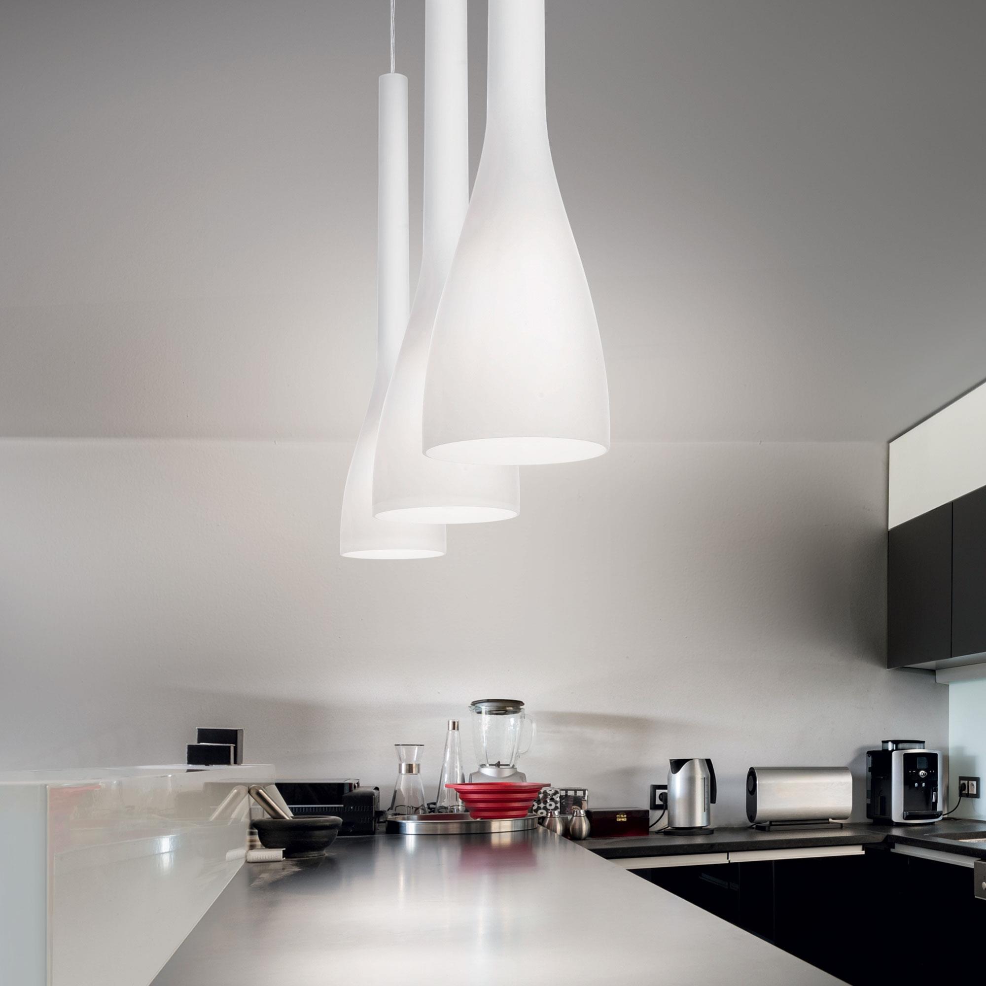 Ideal Lux 035666 Flut SP1 Big Bianco lámpa függeszték