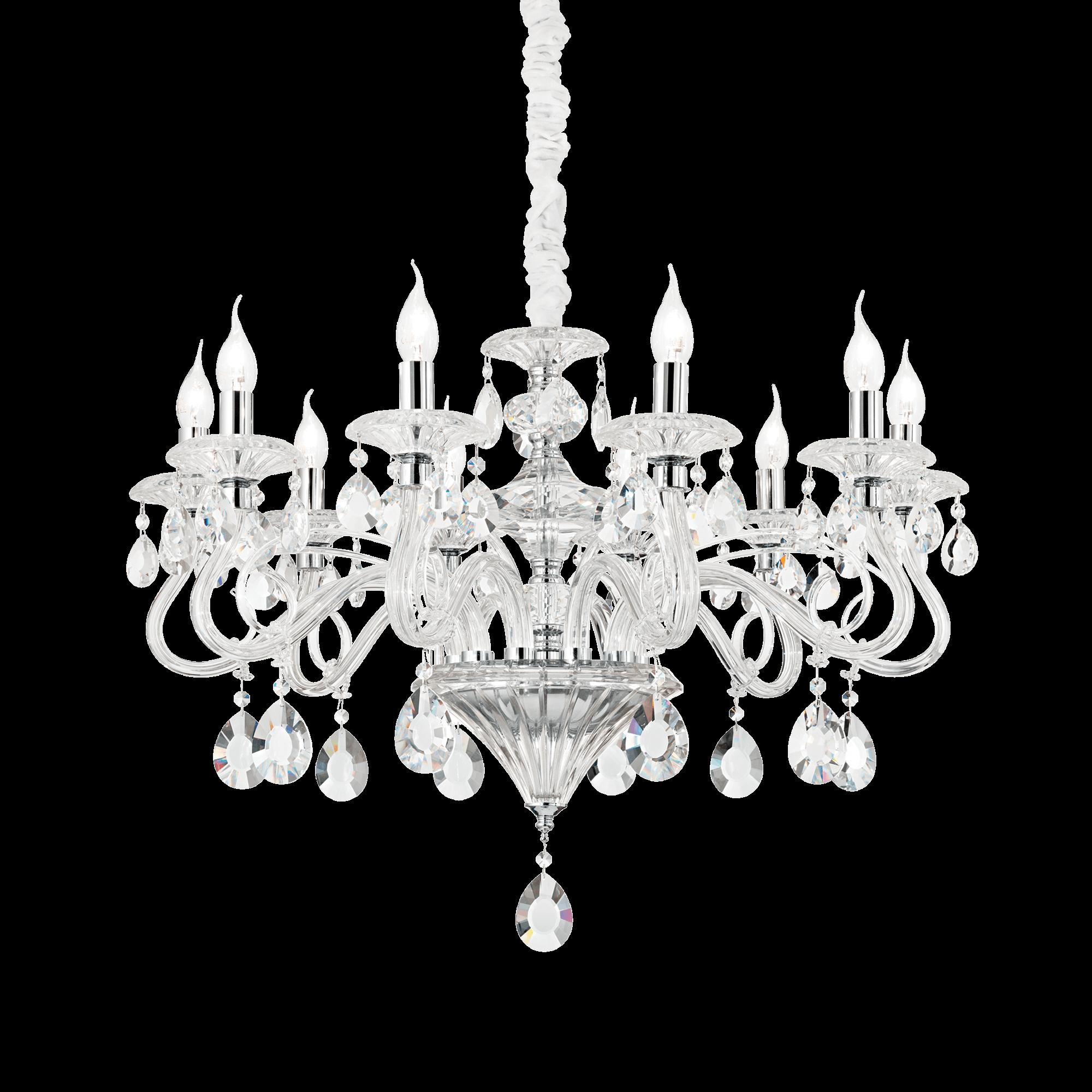 Ideal Lux 141060 NEGRESCO SP10 TRASPARENTE kristály csillár