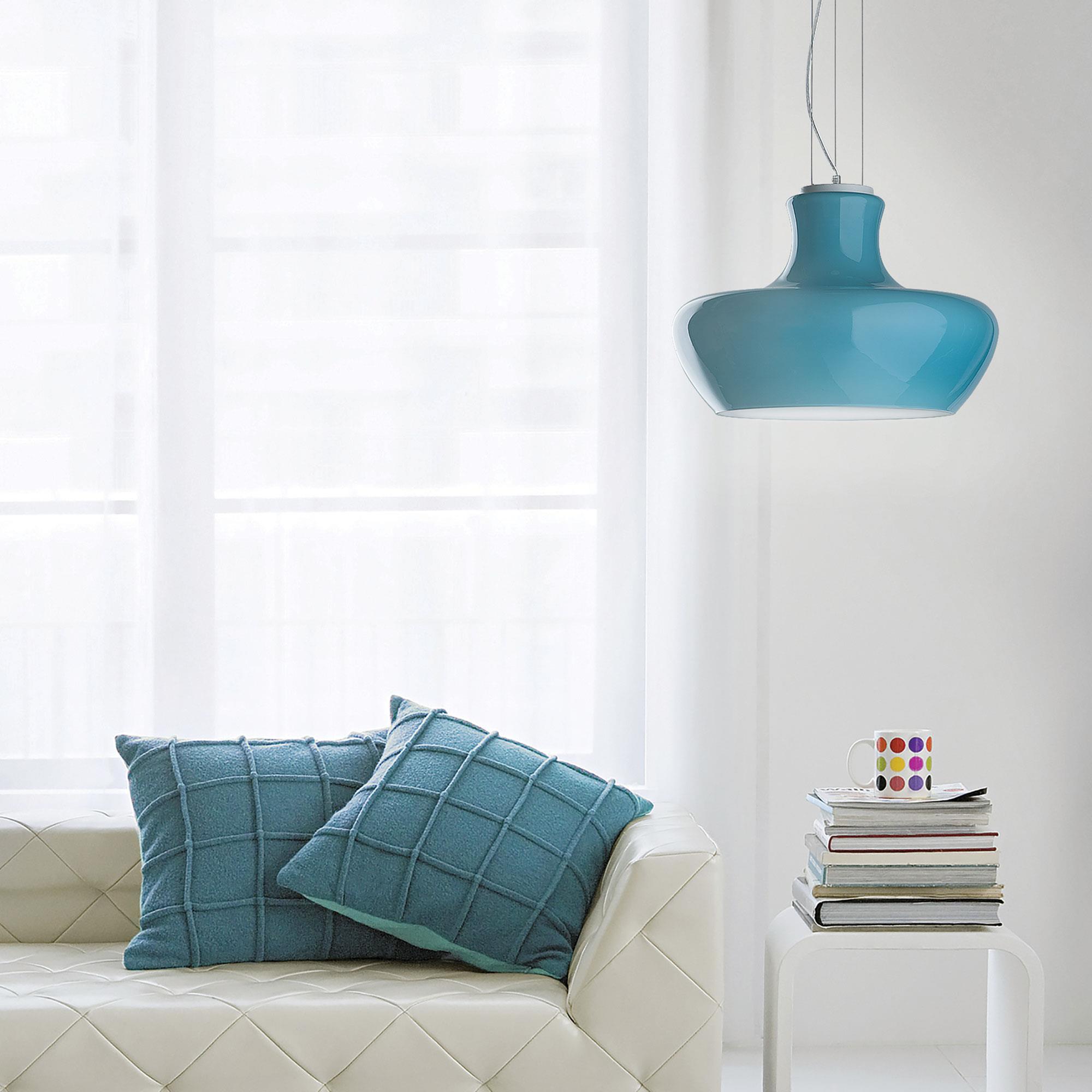 Ideal Lux 137292 ALADINO SP1 D30 Azzurro függeszték